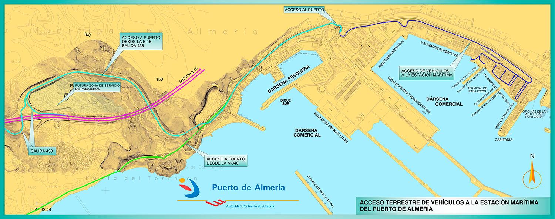 Plano Almería - Puerto