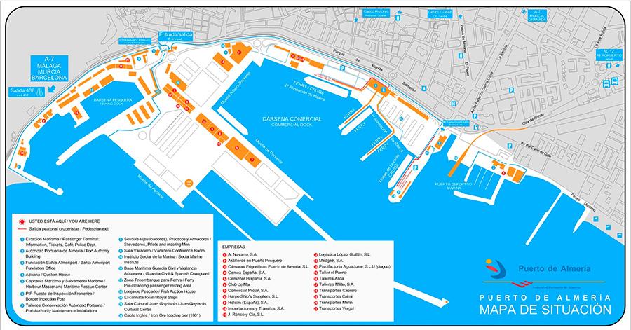 puerto Almería - mapa