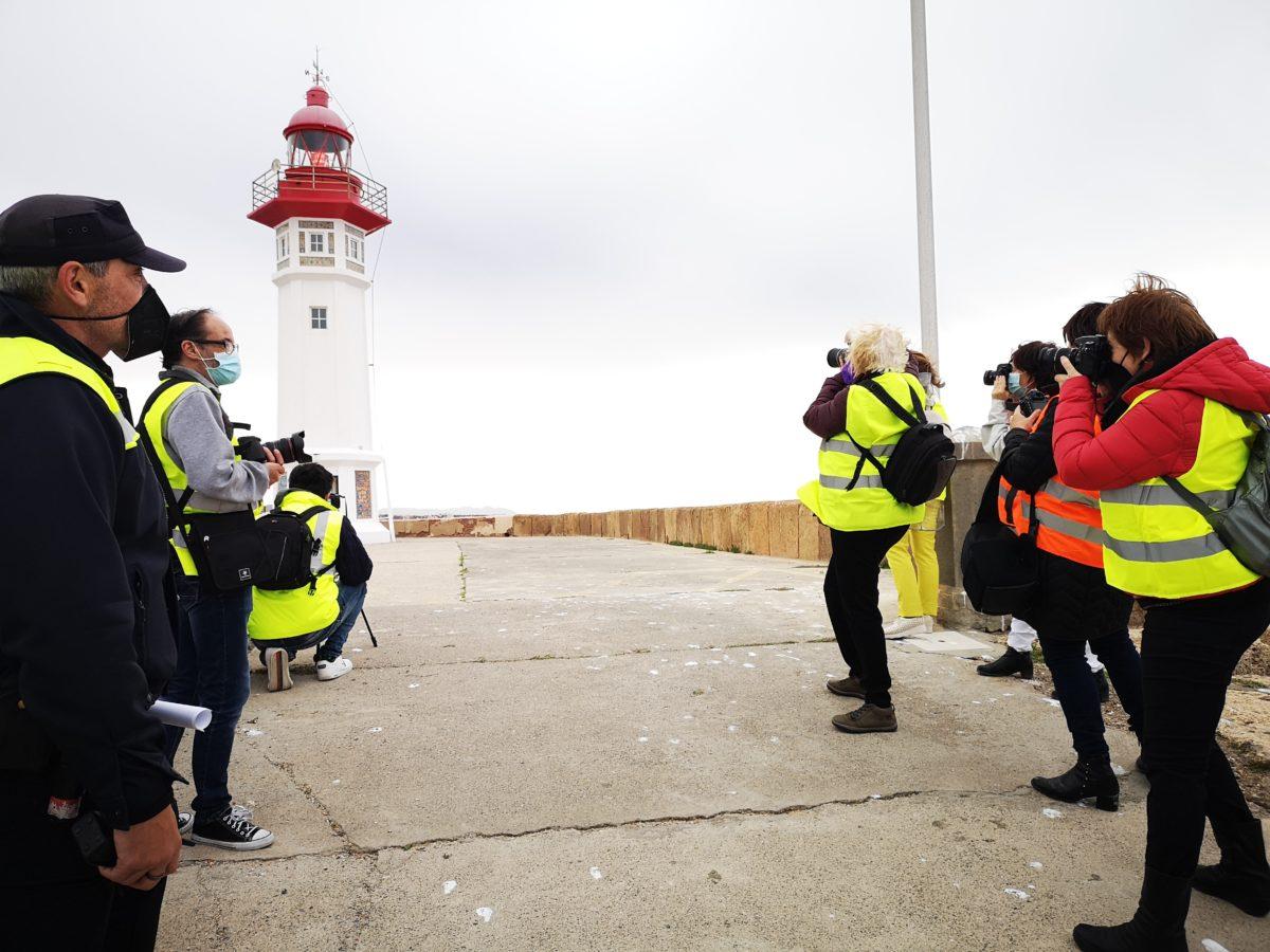 Participantes en el Concurso de Fotografía, en el Puerto de Almería