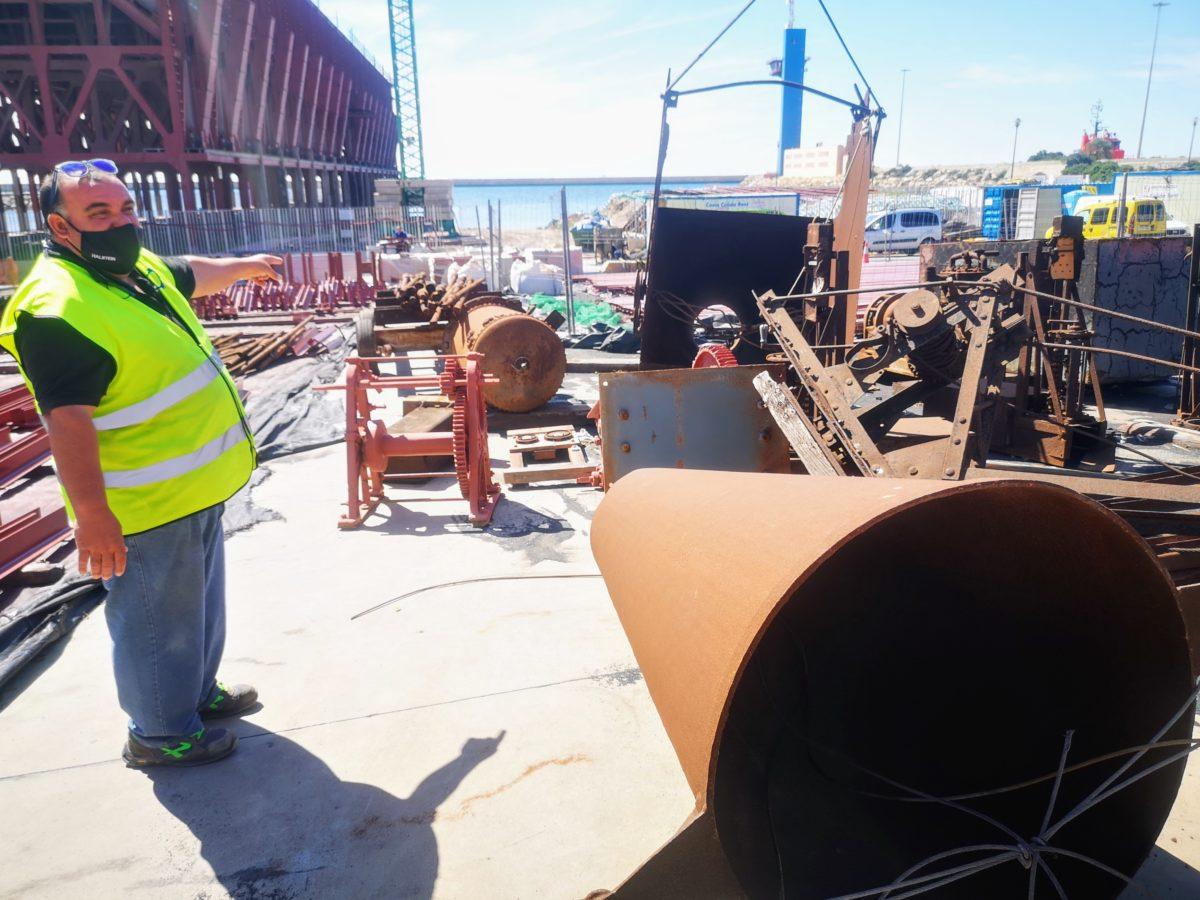 Utensilios del Cable Inglés que serán restaurados para el futuro Centro de Interpretación del Cargadero de Mineral