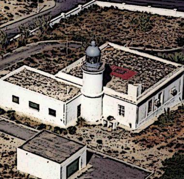 Vista aérea del Faro de Garrucha