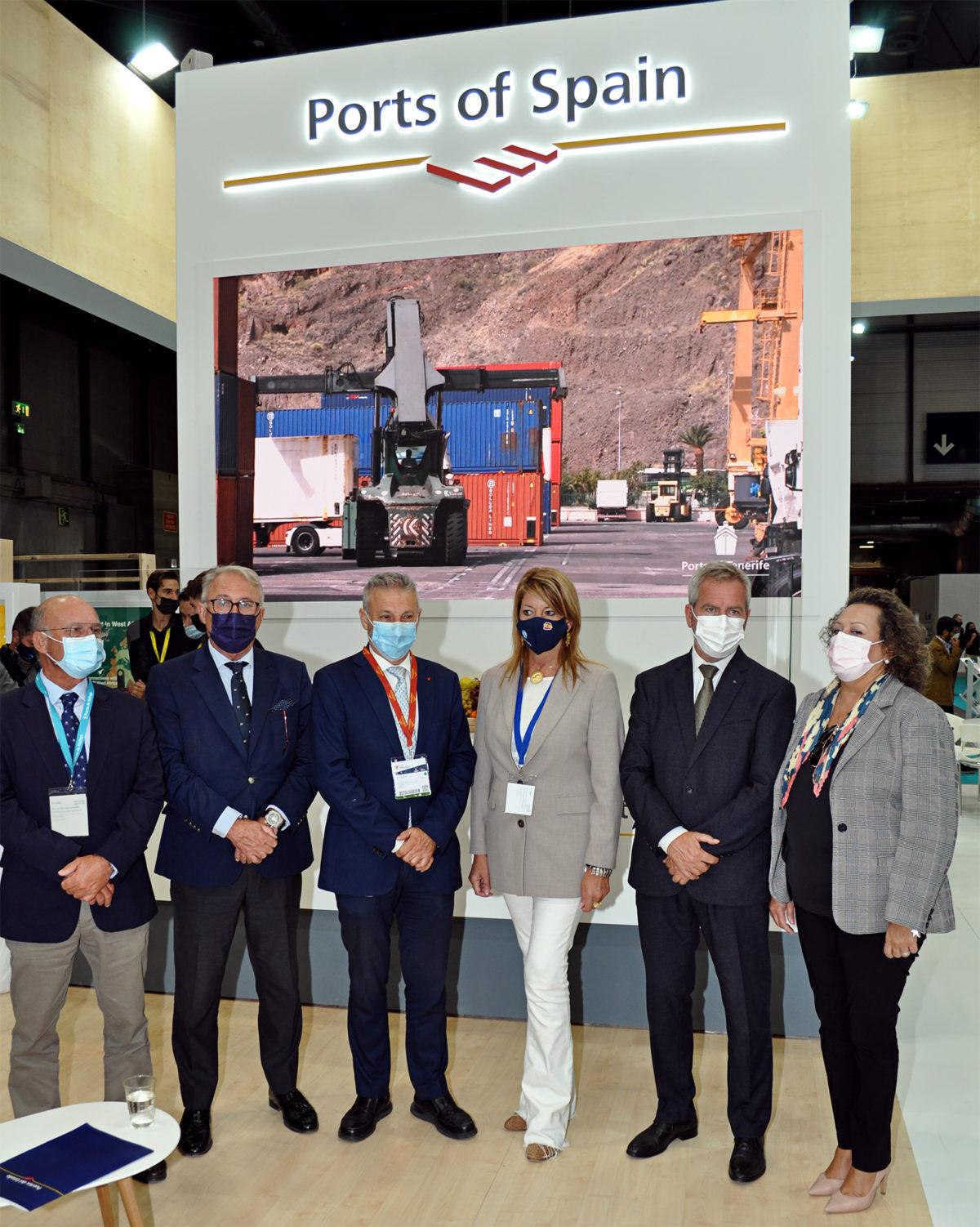 El presidente de la APA, junto al presidente de Puertos del Estado y presidentes de autoridades portuarias de Andalucía y Cartagena