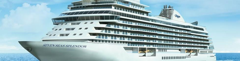 Vista del crucero de lujo Seven Seas Splendor, en una imagen de la naviera